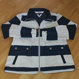 Tommy Hilfiger Blue & White Stripe Jacket